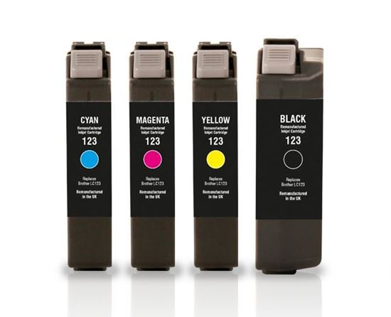 Picture of Jet Tec Recycled Brother LC123 Ink Cartridge Multipack