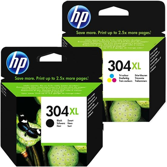 Picture of HP 304XL Black & Colour Original Ink Cartridge Combo Pack