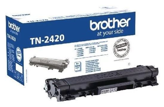 Picture of Brother TN-2420 High Yield Black Original Toner Cartridge (TN2420 Laser Toner)