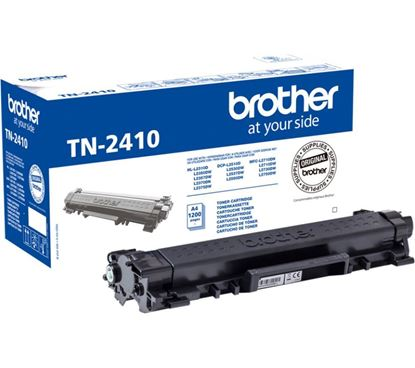 Picture of Brother TN-2410 Black Original Toner Cartridge (TN2410 Laser Toner)