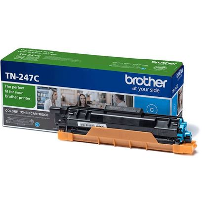 Picture of Brother TN-247C Cyan Original Toner Cartridge (TN247C Laser Toner)