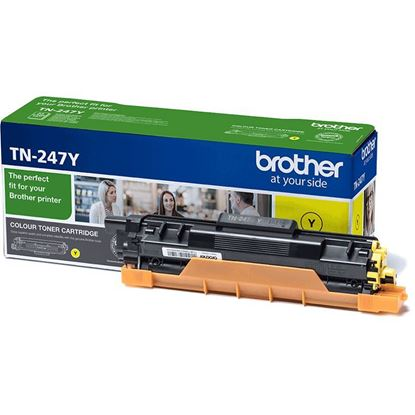Picture of Brother TN-247Y Yellow Original Toner Cartridge (TN247Y Laser Toner)