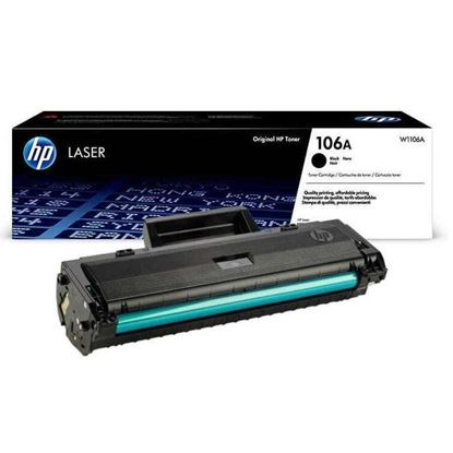 Picture of HP 106A Black Original Toner Cartridge (W1106A Laser Toner)