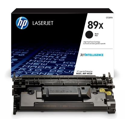 Picture of HP 89X High Yield Black Original Toner Cartridge (CF289X Laser Toner)