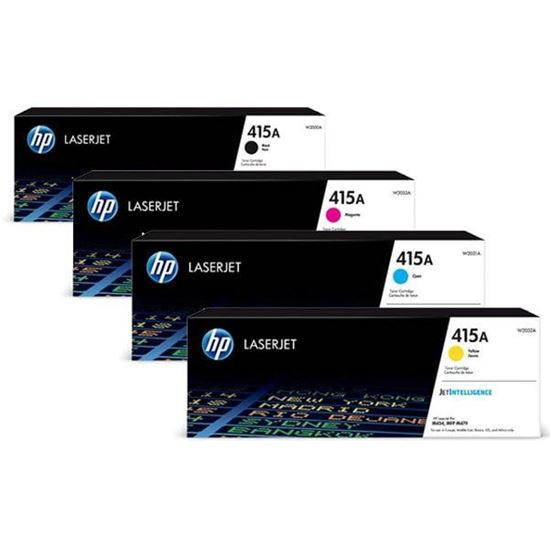 Picture of HP 415A Black, Cyan, Magenta, Yellow Original Toner Cartridge Multipack (W2030/1/2/3A Laser Toner)