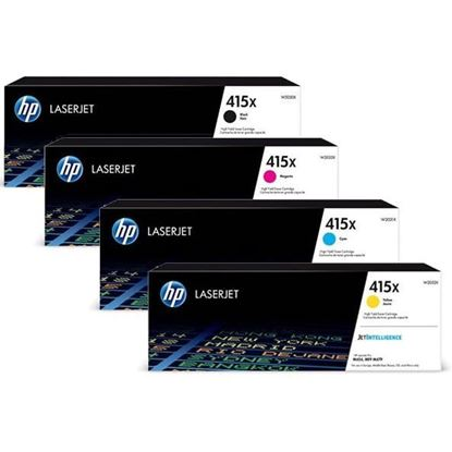Picture of HP 415X High Yield Black, Cyan, Magenta, Yellow Original Toner Cartridge Multipack (W2030/1/2/3X Laser Toner)