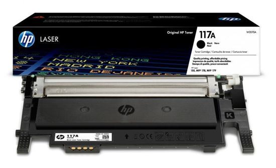 Picture of HP 117A Black Original Toner Cartridge (W2070A Laser Toner)