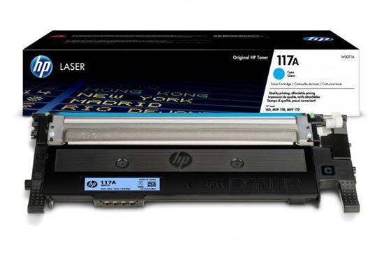 Picture of HP 117A Cyan Original Toner Cartridge (W2071A Laser Toner)