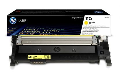 Picture of HP 117A Yellow Original Toner Cartridge (W2072A Laser Toner)