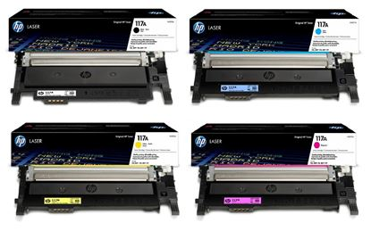 Picture of HP 117A Black, Cyan, Magenta, Yellow Original Toner Cartridge Multipack (W2070/1/2/3A Laser Toner)