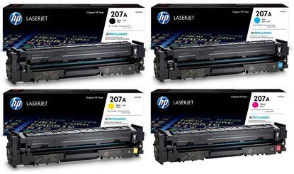 Picture of HP 207A Black, Cyan, Magenta, Yellow Original Toner Cartridge Multipack (W2210/1/2/3A Laser Toner)