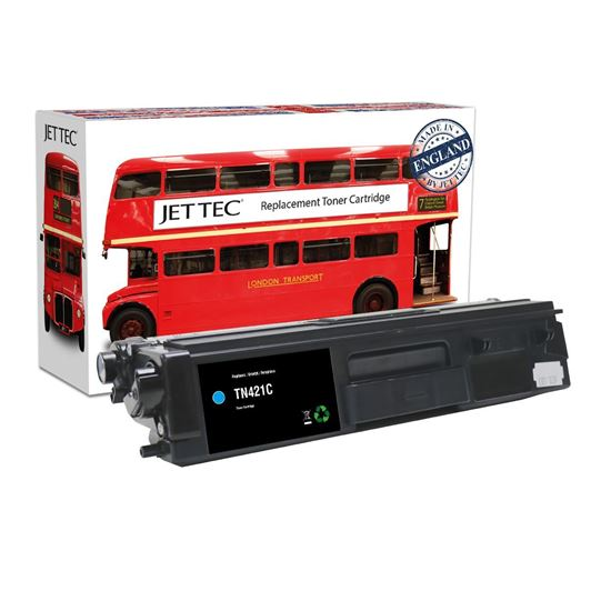 Picture of Red Bus Recycled Brother TN-421C Cyan Toner Cartridge