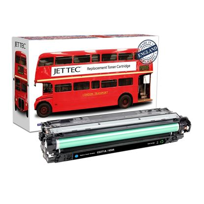 Picture of Red Bus Recycled HP 650A Cyan (CE271A) Toner Cartridge