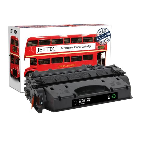 Picture of Red Bus Recycled HP 80X High Yield Black (CF280X) Toner Cartridge