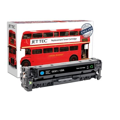 Picture of Red Bus Recycled HP 128A Cyan (CE321A) Toner Cartridge
