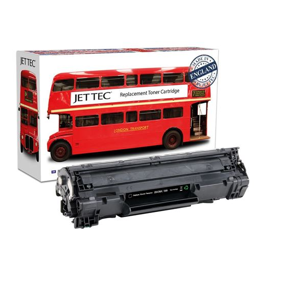 Picture of Red Bus Recycled HP 36A Black (CB436A) Toner Cartridge