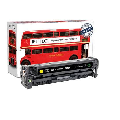 Picture of Red Bus Recycled HP 304A Yellow (CC532A) Toner Cartridge