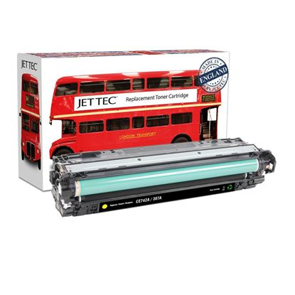 Picture of Red Bus Recycled HP 307A Yellow (CE742A) Toner Cartridge