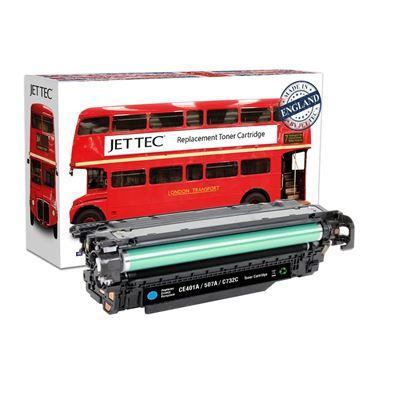 Picture of Red Bus Recycled HP 507A Cyan (CE401A) Toner Cartridge