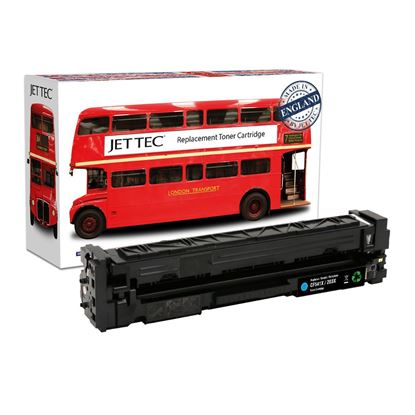 Picture of Red Bus Recycled HP 203X High Yield Cyan (CF541X) Toner Cartridge