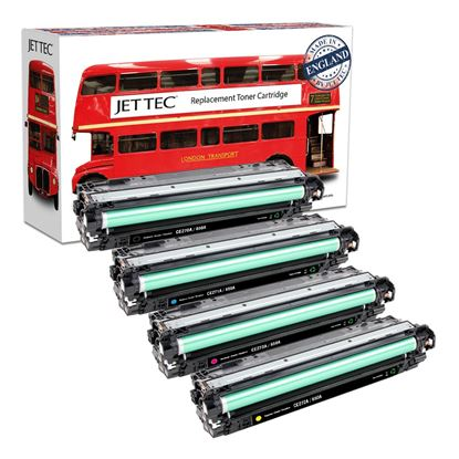 Picture of Red Bus Recycled HP 650A Black, Cyan, Magenta, Yellow (CE270/1/2/3A) Toner Cartridge Multipack