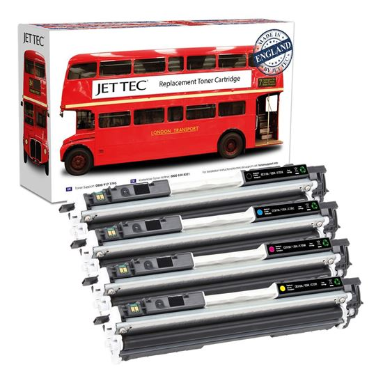 Picture of Red Bus Recycled HP 126A Black, Cyan, Magenta, Yellow (CE310/1/2/3A) Toner Cartridge Multipack