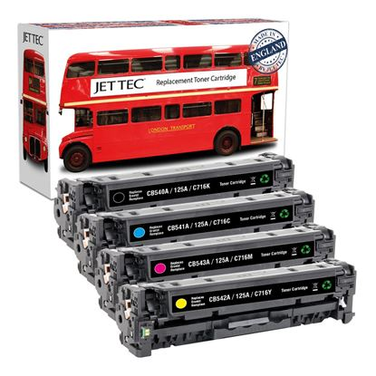 Picture of Red Bus Recycled HP 125A Black, Cyan, Magenta, Yellow (CB540/1/2/3A) Toner Cartridge Multipack