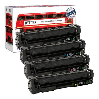 Picture of Red Bus Recycled HP 203X High Yield Black, Cyan, Magenta, Yellow (CF540/1/2/3X) Toner Cartridge Multipack