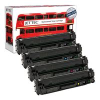 Picture of Red Bus Recycled HP 410A Black, Cyan, Magenta, Yellow (CF410/1/2/3A) Toner Cartridge Multipack